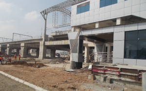 Koyambedu Station Work in Progress(23-11-2014)