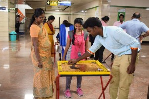 The Month-Long Traditional Games event in Thirumangalam Metro station