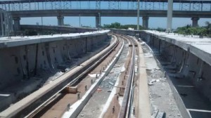 Track work progress between Thirumangalam and St.Thomas Mount Metro (22-05-15)