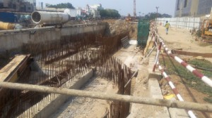 Work in progress at Government Estate station (20-05-15)