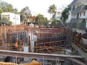 WORK IN PROGRESS AT Anna Nagar Tower STATION (17-05-15)