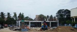 Ancillary building work in progress at Thirumangalam station (16-05-15)