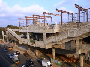 Meenambakkam Metro Station work in progress (27-02-15)