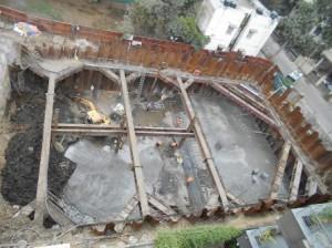 WORK IN PROGRESS AT Anna Nagar Tower STATION (10-02-15)