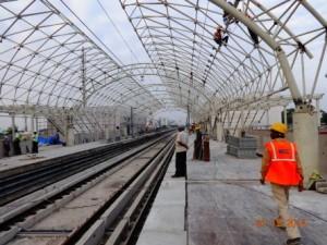 Ekkatuthangal Station Work in Progress (21-11-2014)
