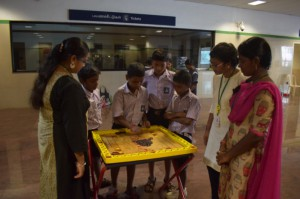 The Month-Long Traditional Games event in Ashok Nagar Metro station
